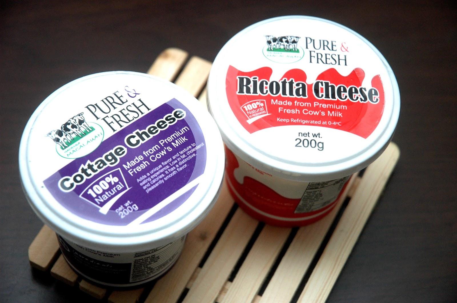 Pure U0026 Fresh: Hacienda Macalauanu0027s Pure U0026 Fresh Cottage Cheese And Ricotta  Cheese