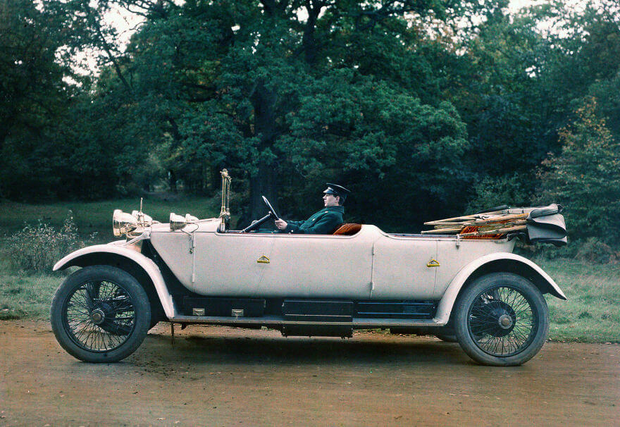 40 Old Color Pictures Show Our World A Century Ago - Lanchester 38hp Tourer, 1913