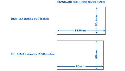 kích thước cardvisit chuẩn