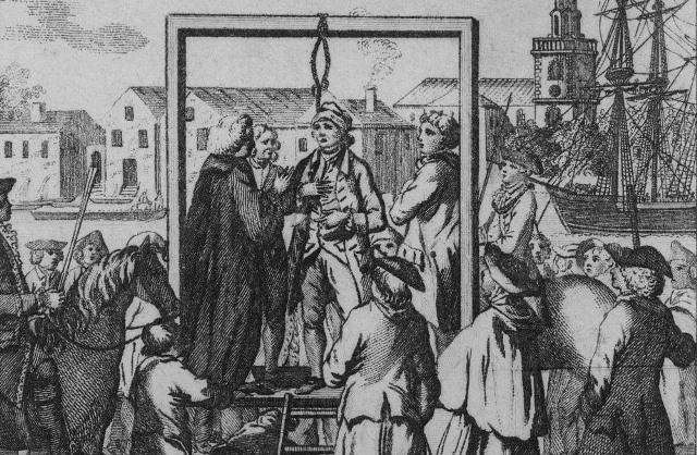 muelle de la ejecución en Londres