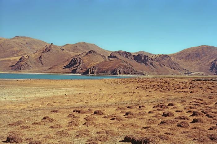 Tibet, Yamzho Yumco, Kamba La, © L. Gigout, 1990