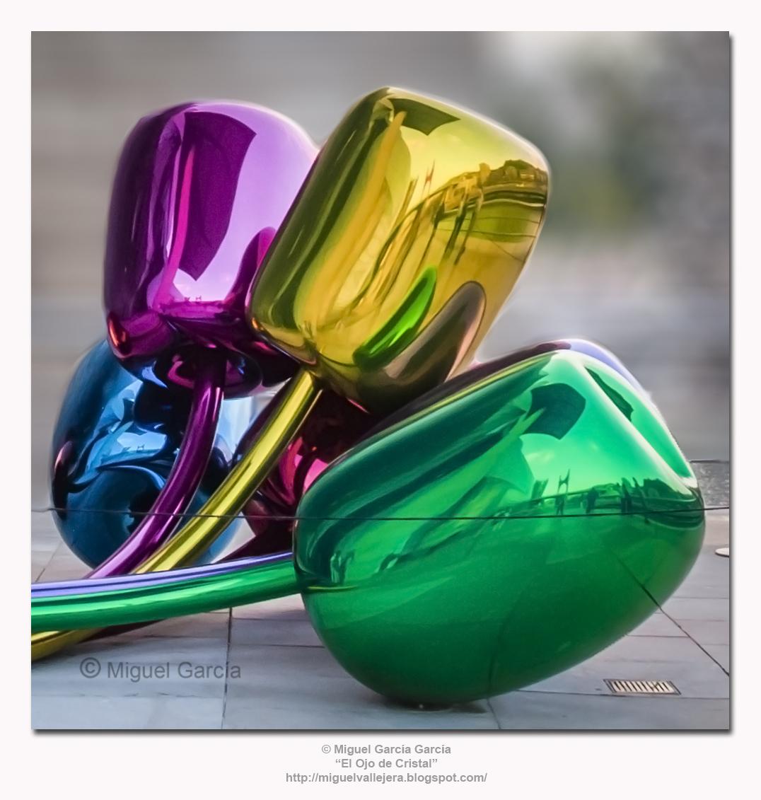 """Los Tulipanes"", de Jeff Koons."