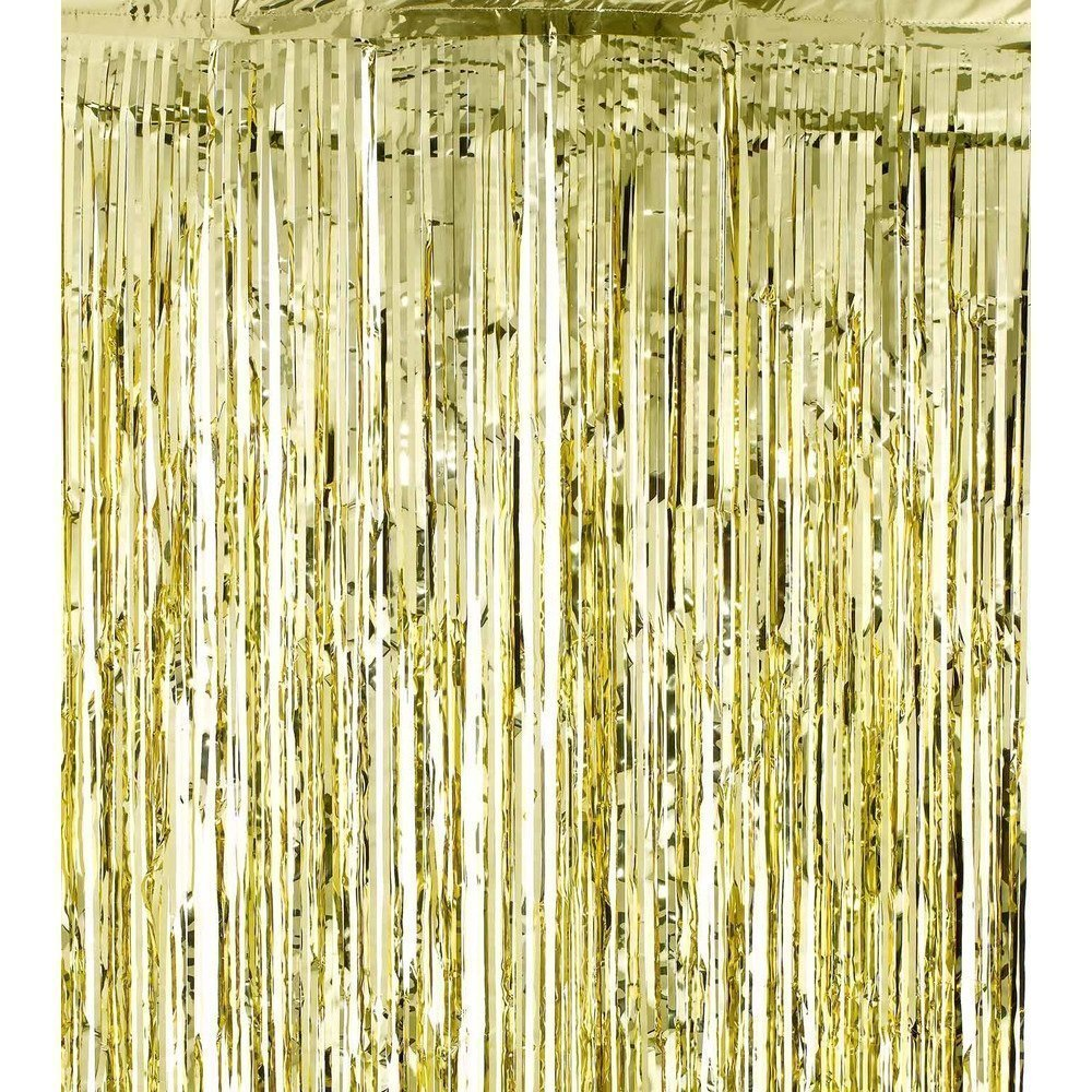 The 3ft X 8ft Gold Foil Fringe Curtain Is Great For Backgrounds And  Backdrops, As Well As A Doorway Entrance (Iu0027ve Actually Thought About This  Too!)