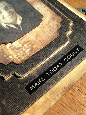 sarascloset Make Today Count Masculine card Tim Holtz #Ideaology