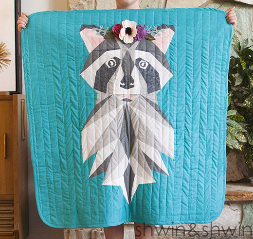 Woodland Raccoon Quilt Free Pattern