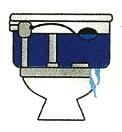 Dibujo: Fuga de agua del Inodoro