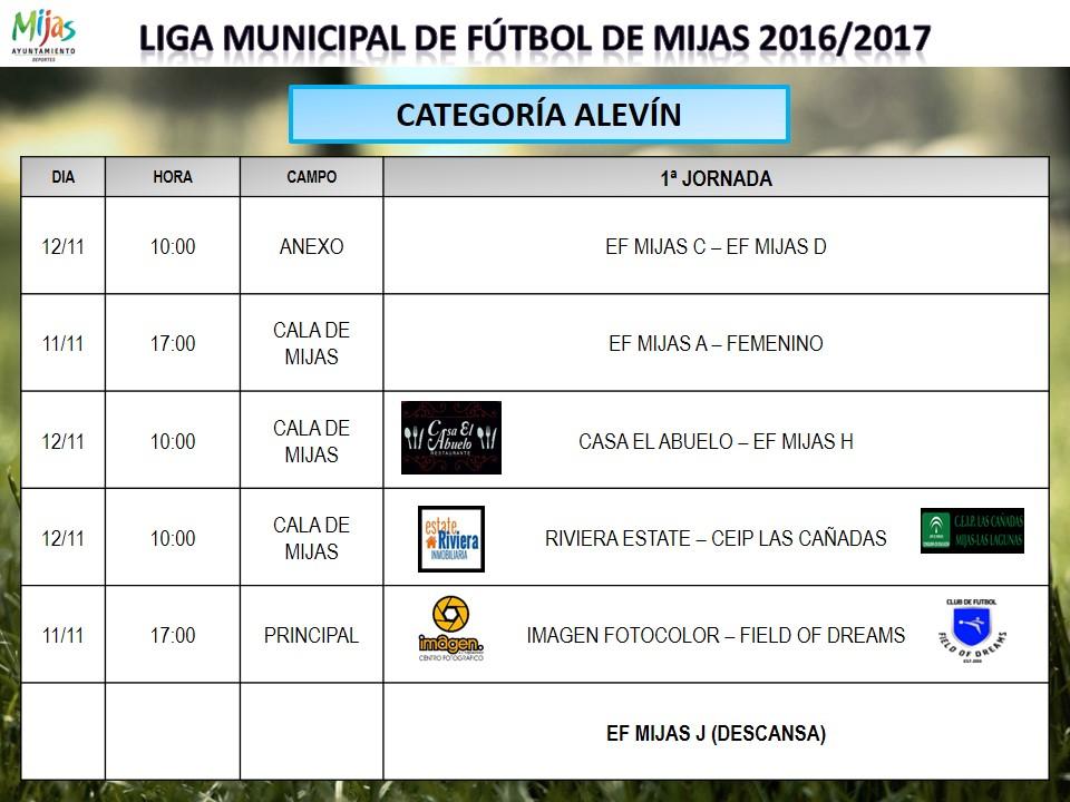 Horarios 1 j liga municipal 2016 2017 for Liga municipal marca