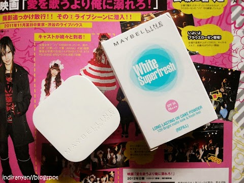 [REVIEW] Maybelline : White Superfresh Long Lasting UV Cake Powder SPF 34 PA+++ - 05 Sand Beige