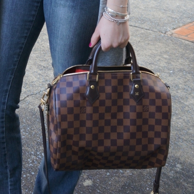 Louis Vuitton Speedy Bandouliere Heatstamped hand held 30 | AwayFromTheBlue