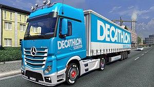 Decathlon trailer and Mercedes MPIV skin