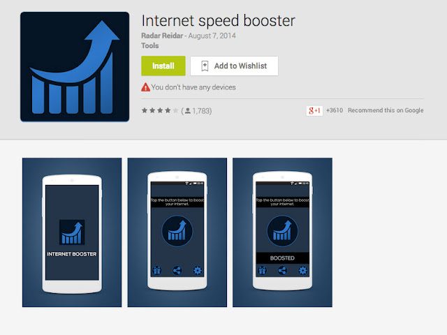2. Using the Best Internet Booster Application