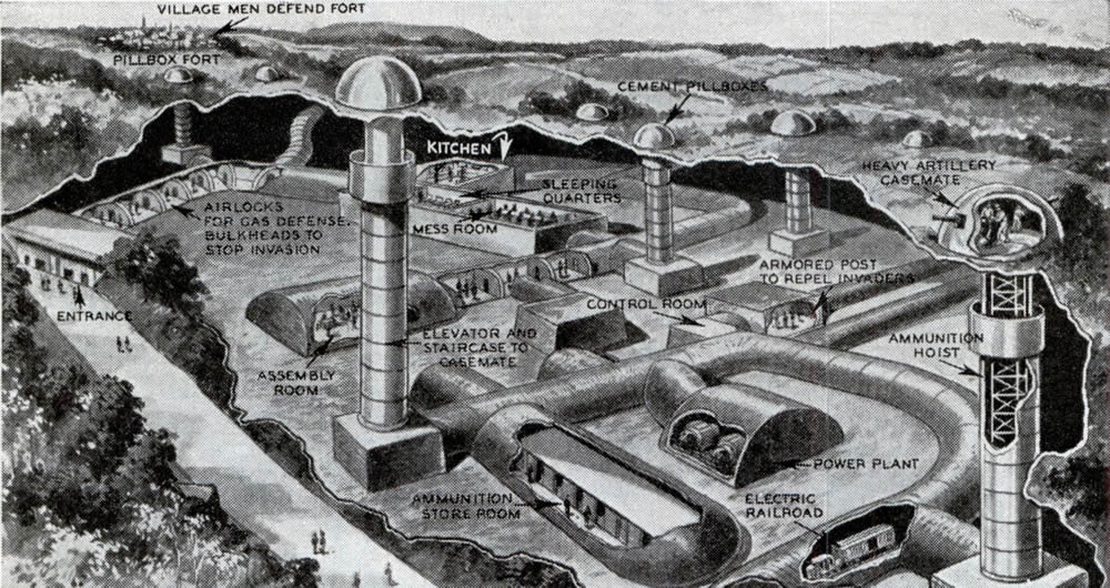 maginot line fort diagram