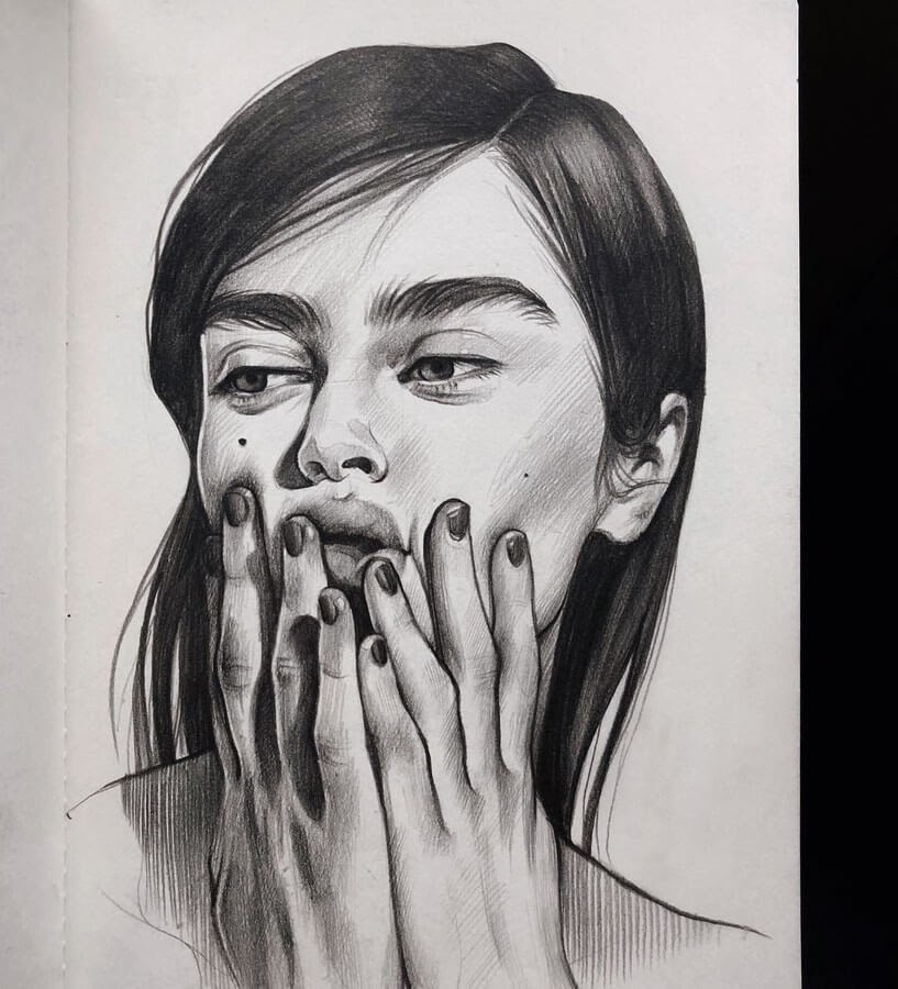 12-Alena-Kedavra-Pencil-and-Charcoal-Portrait-Drawings-www-designstack-co