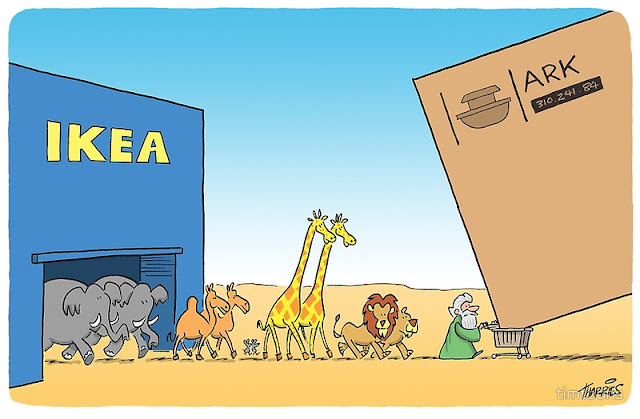 Funny IKEA Noah's Ark Cartoon Picture