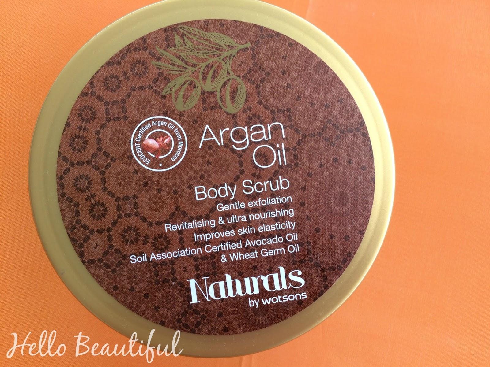 Watsons Naturals Argon Oil Hair Oil Hair Mask And Body Scrub