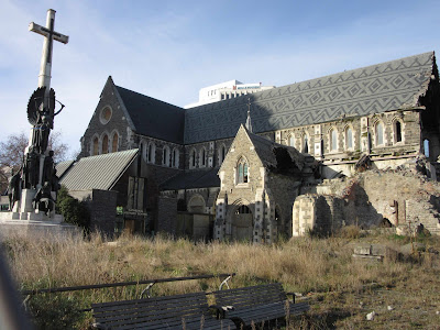 Antigua catedral. Christchurch, en Nueva Zelanda