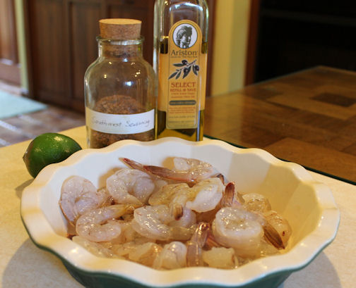 Preparing Shrimp with Southwest Seasoning