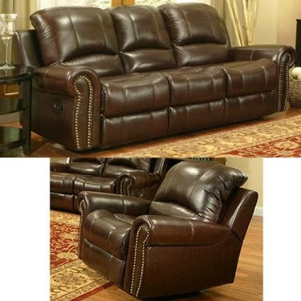 Reclining Italian Leather Sofa and Chair & Cheap Reclining Sofas Sale: Italian Leather Recliner Sofa Set islam-shia.org