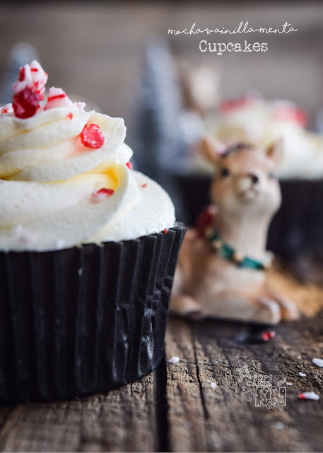 cupcakes mocha vainilla y menta