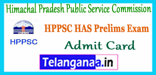 HPPSC Himachal Pradesh Public Service Commission HAS Main Exam Admit Card 2017