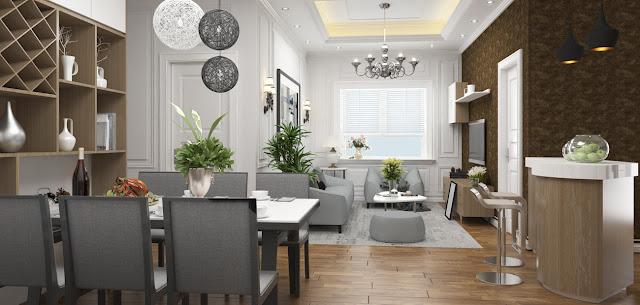 Nội thất bàn giao căn hộ chung cư Eco City Long Biên
