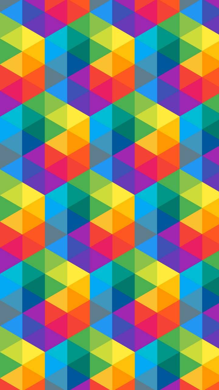 Fondo De Pantalla Triángulos De Colores Fygo Fondos