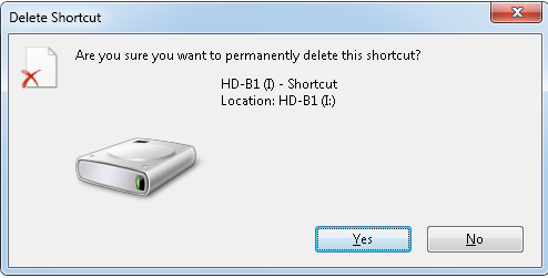 Shortcut Virus from External Drive removal