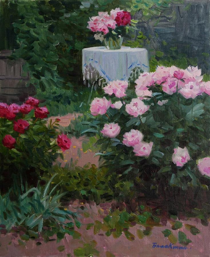 Im genes arte pinturas lindos y coloridos jardines de for Lindos jardines modernos