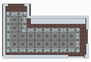A detailed layout drawing of the cement tile is the best way to visualize the layout