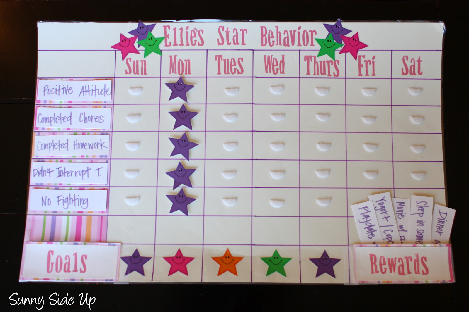 Charts after day one they got all stars again today  took these pictures ellie is keeping things neutral with color choice also star behavior re born the sunny side up blog rh thesunnysideupblog