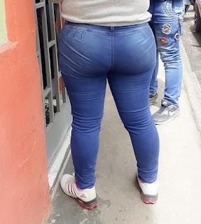 Linda nalgona pantalon sin bolsas