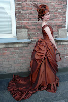 how to make a victorian bustle skirt with long train
