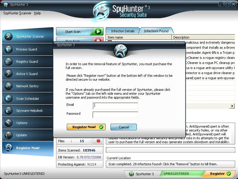 spyhunter 4.28 email and password 2017