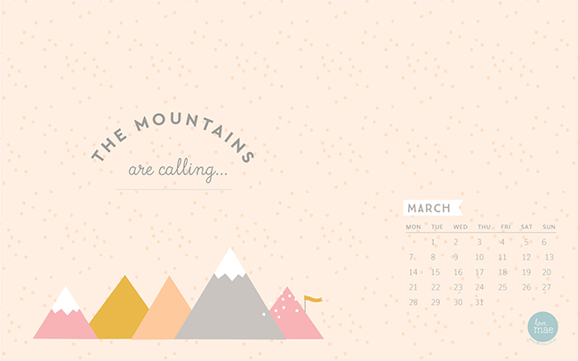 Calendar Wallpaper Love Mae : New desktop calendar for march love mae