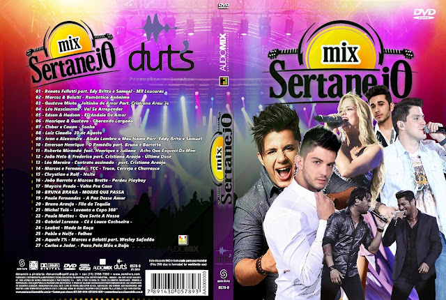 Capa DVD Mix Sertanejo