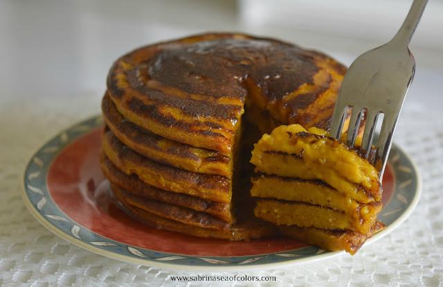 Tortitas de espelta y calabaza