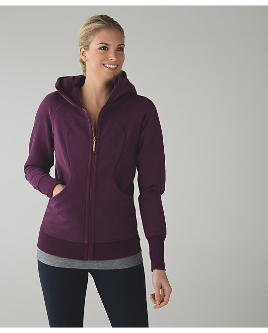 lululemon red-grape scuba-iii