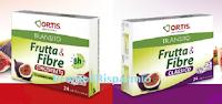 Logo Frutta& Fibre Ortis: campioni omaggio classico o concentrato da richiedere gratis