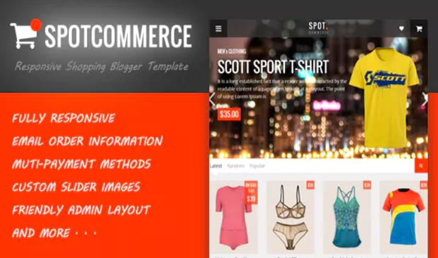 Chia sẻ template Blogspot bán hàng online