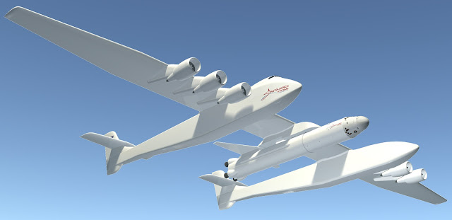 stratolaunch, stratolaunch image rendering, stratolaunch prototype