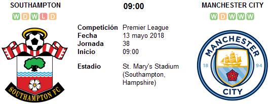 Southampton vs Manchester City en VIVO