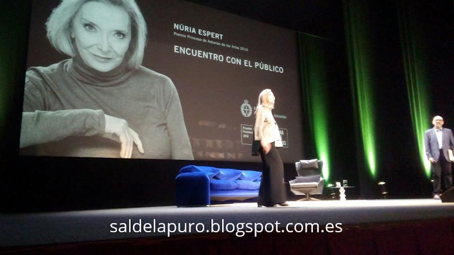 Nuria Espert en Gijón.