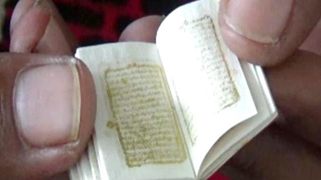 Di Wilayah Indonesia Inilah Sebuah Al Quran Mini Berusia Ratusan Tahun Dan Ditulis Tangan Ditemukan
