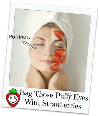 How to reduce bags under your eyes with strawberries, by Barbie's Beauty Bits