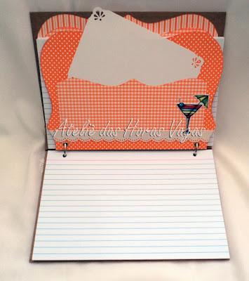 livro caderno de receitas personalizado scrapbook