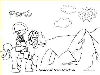 Dibujos De Fiestas Patrias Peruanas Para Colorear Dibujos Para Niños