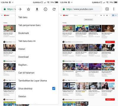 Cara Membuka YouTube Tampilan Komputer di Android