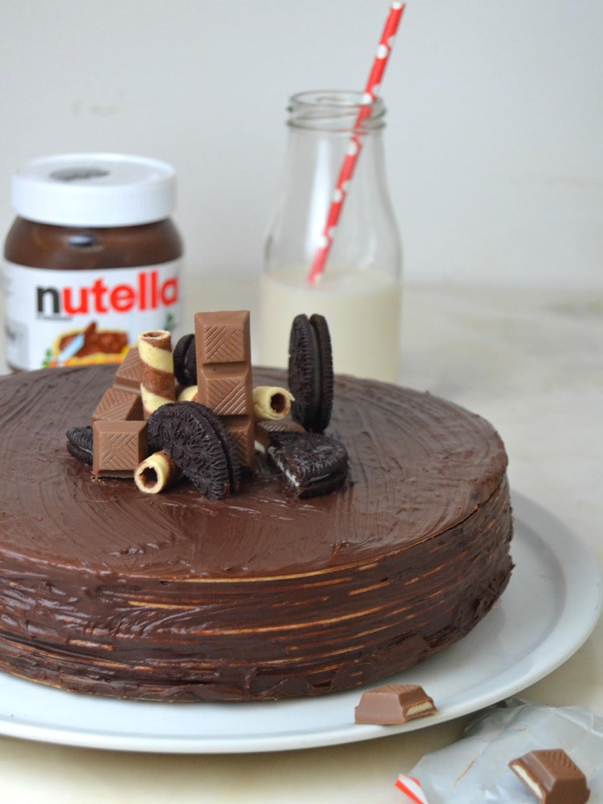 Tarta De Nutella Y Obleas La Tarta De Chocolate Más Fácil