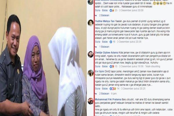 Siswi Polisikan Guru, Generasi Jaman Old Bicara