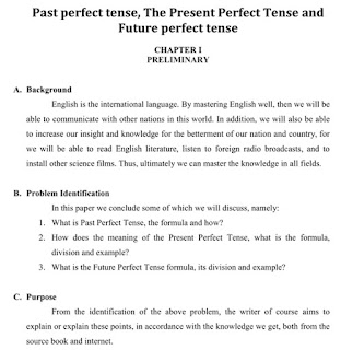 Makalah  Past Perfect Tense, Present Perfect Tense And Future Perfect Tense